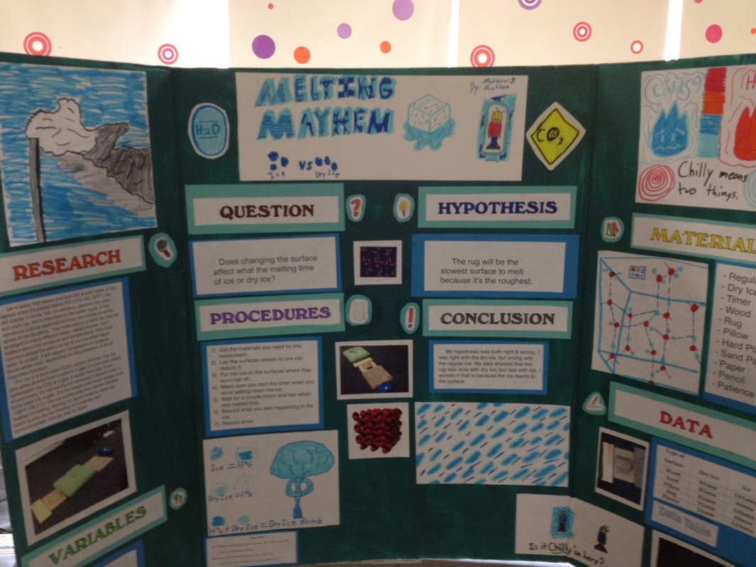 matthew science fair of project melting hem